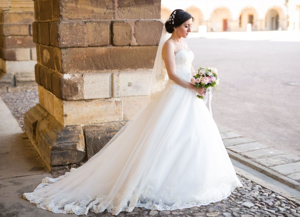 Wedding Dress for Spring & Summer Weddings - Strapless Wedding Dress and Wedding Photography for Spring & Summer Weddings