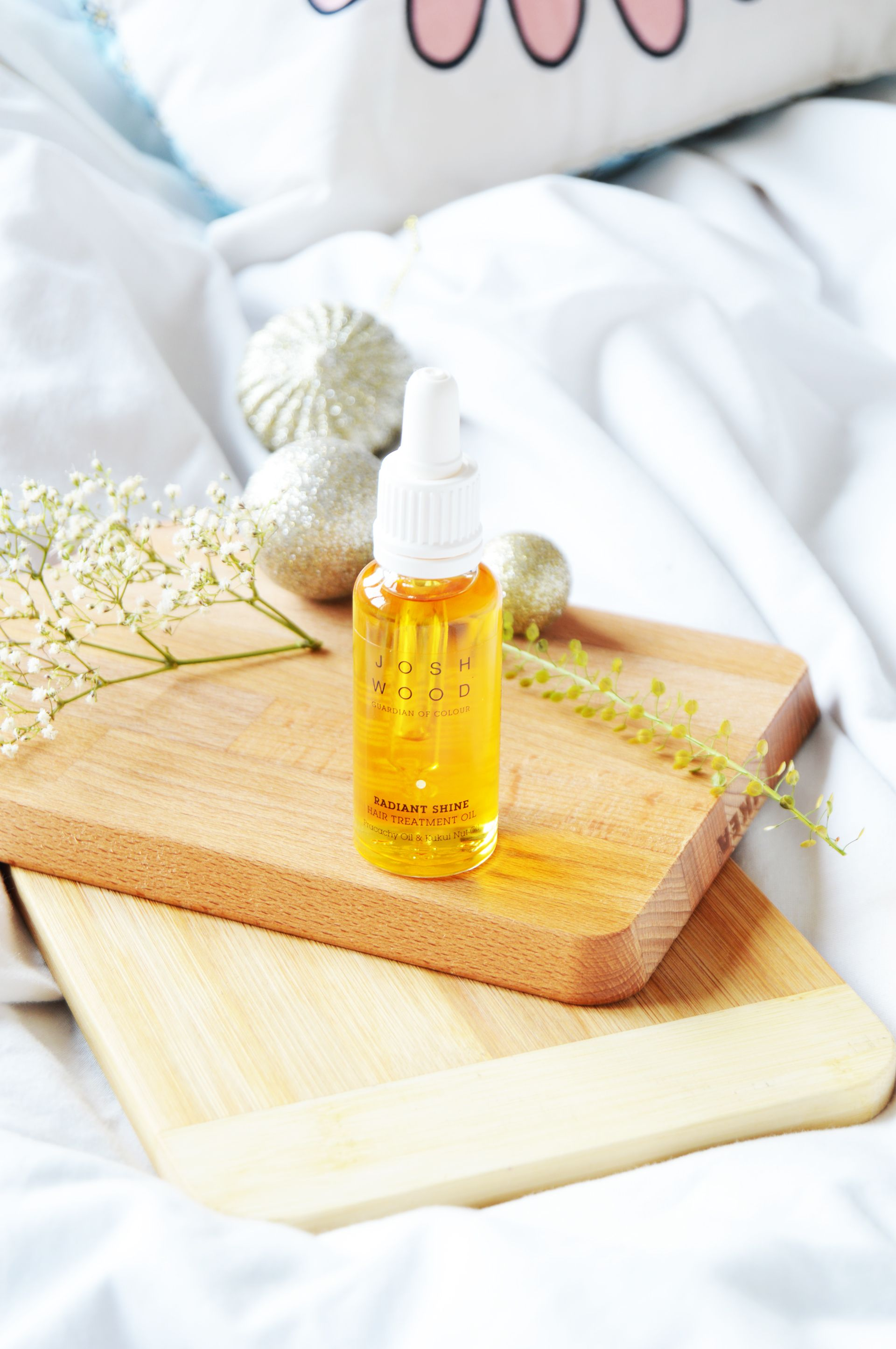 Josh Wood Radiant Shine Hair Treatment Oil is specifically created for coloured hair to give the radiant shine. You could also use it on uncoloured hair as well, you will still get that extra shine boost and healthier looking hair.