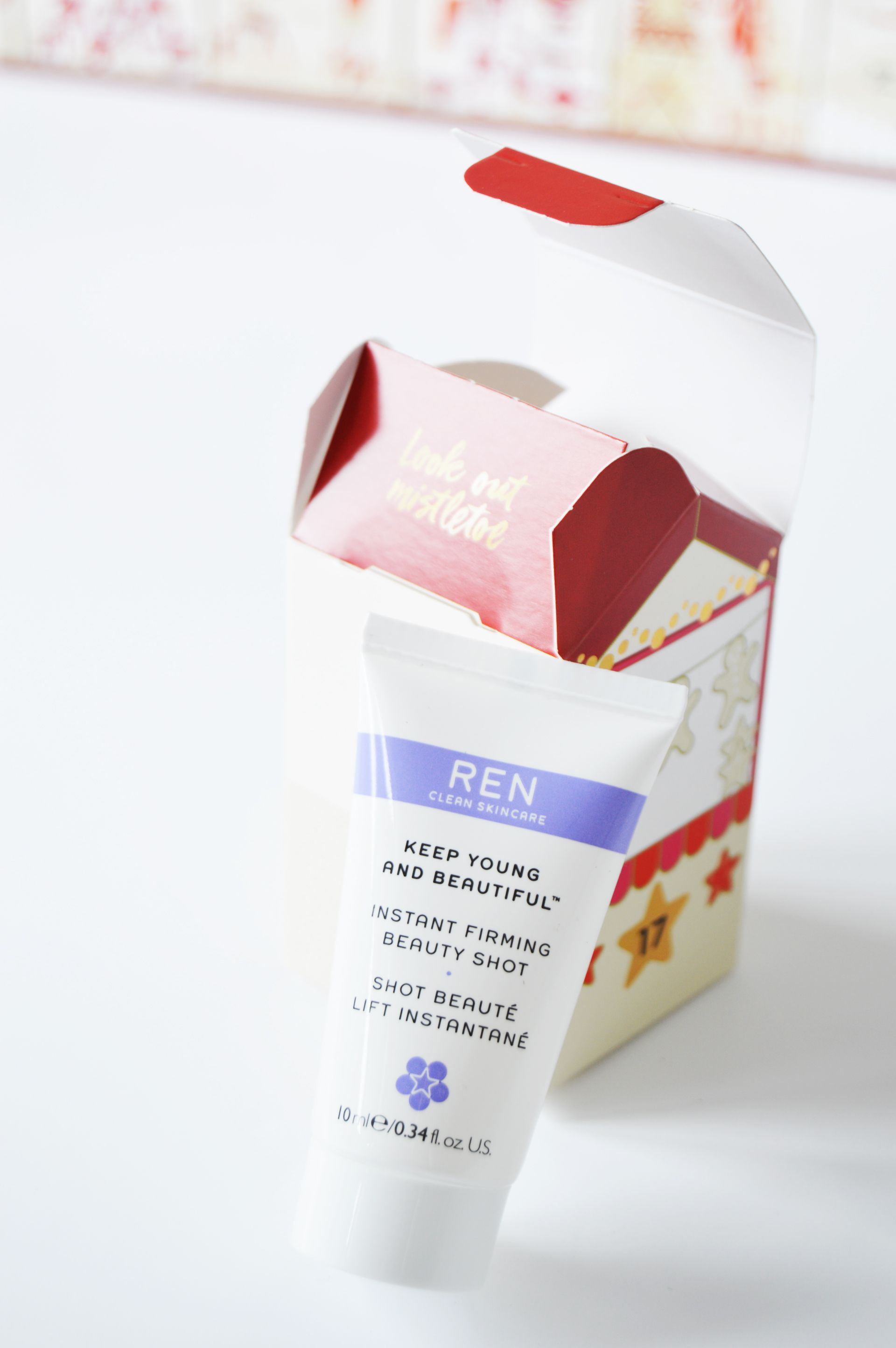 REN Keep Young and Beautiful Instant Firming Beauty Shot gives instant firming and hydration. M&S Advent Calendar