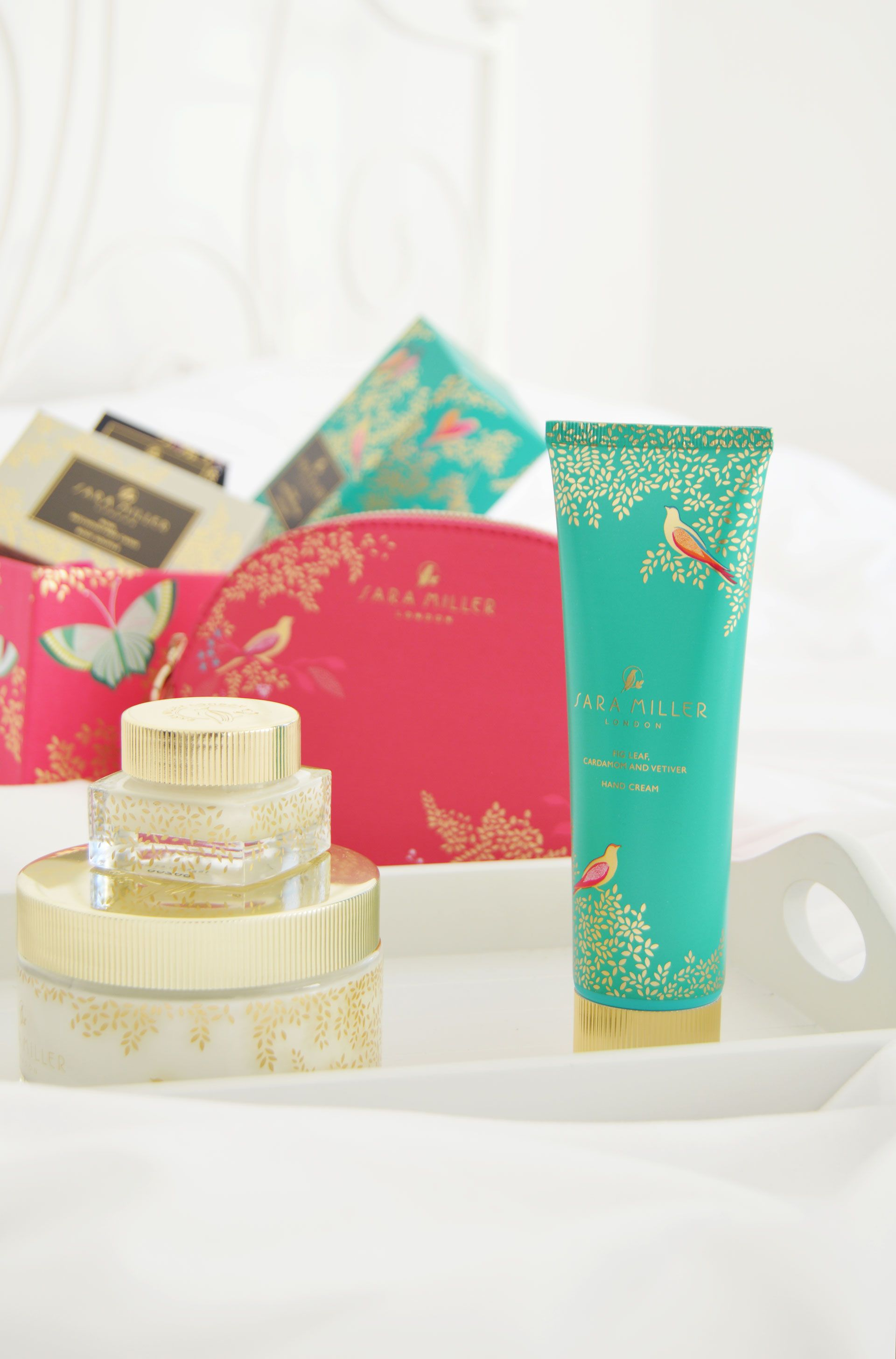 Sara Miller London Beauty Range Review | Body soufflé, hand cream, lip balm